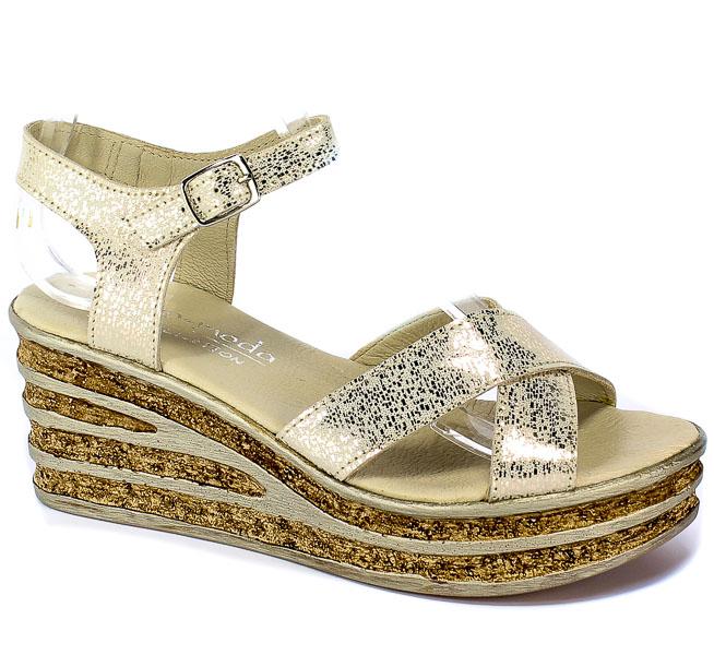 Sandały Euro Moda Tych. 607 Złoty Deszczyk