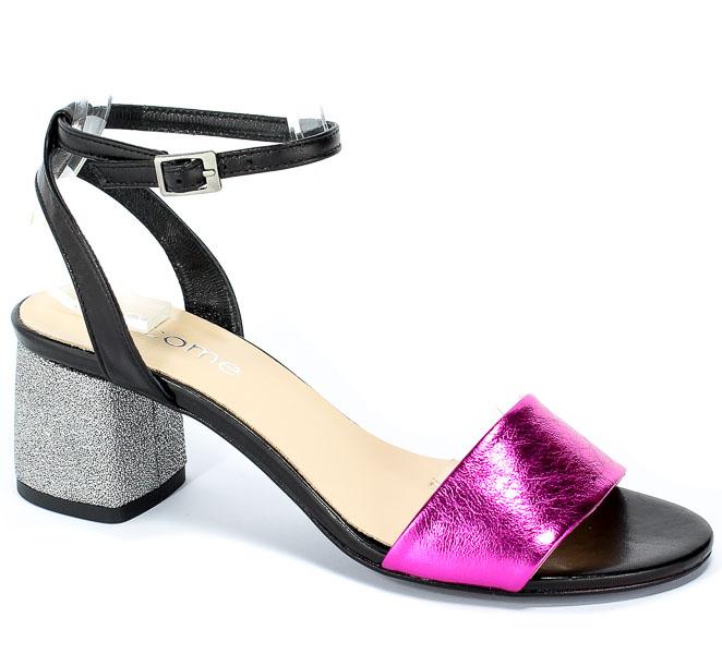 Sandały Uncome 28101 Fuxia/Nero