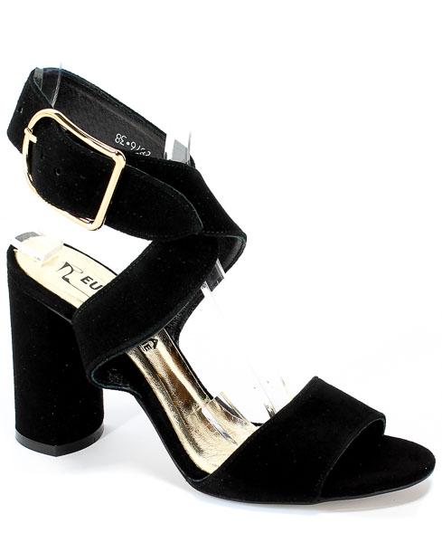 Sandały Euro Moda 19 2876/003-P Czarny