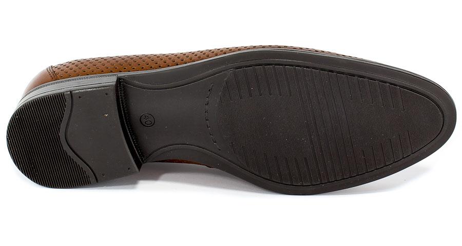 Półbuty Letnie Euro Moda Tap H-6461/P2-179-3213-105+Brown