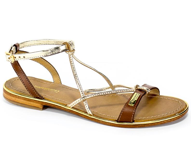Sandały Les Tropeziennes 12906 Tan/Gold
