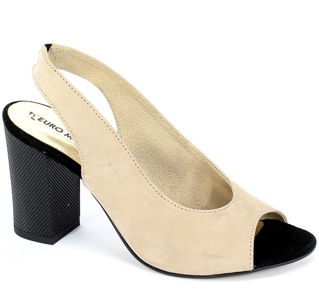 Sandały Euro Moda ChB 19 92256 Kaszmir Crema Beż