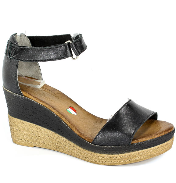 Sandały Blu... 2826 Czarny Brokat