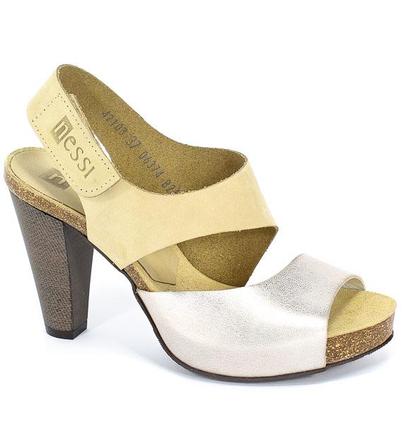 Sandały Nessi 42103 Beż+Kr