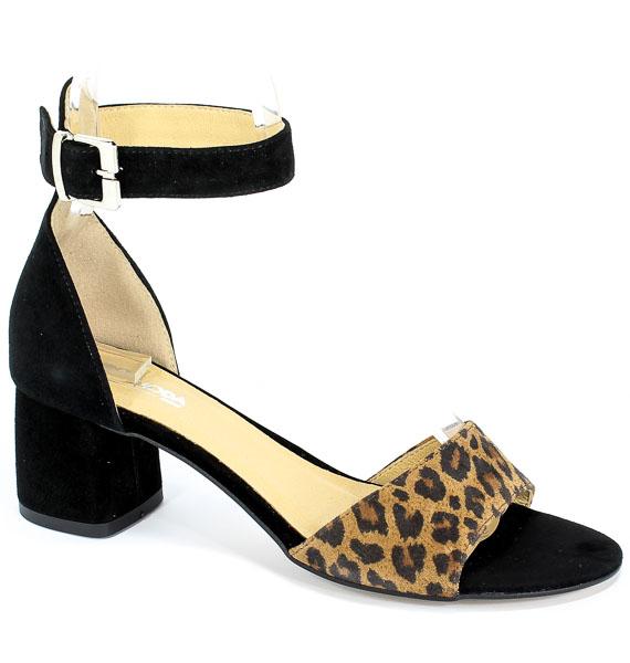 Sandały Euro Moda Ro 455 Czar+Panterka
