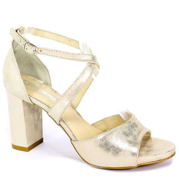 Sandały Euro Moda Ro 453 Złoto