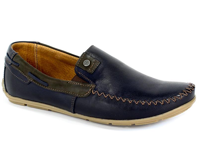 Mokasyny Riko 878 Juma Blue II/Brąz
