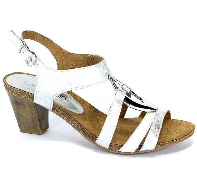 Sandały Caprice 9-28308-22 919 Silver/White