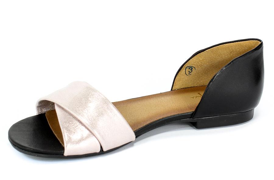 Sandały MACIEJKA 03615 6100 5 Czarno Różowy