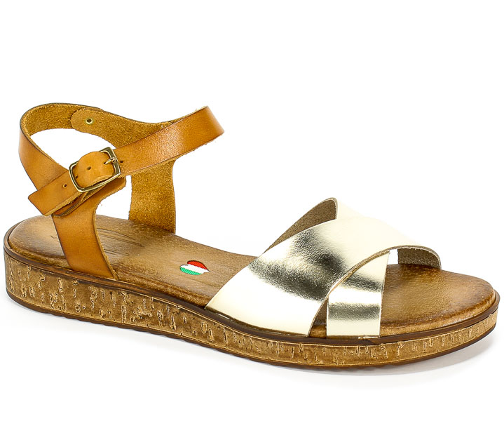 Sandały Blu... 4513 Złoty+Br6