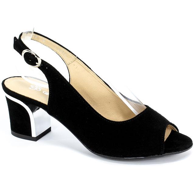 Sandały Grodecki 1112 Czarny Zamsz