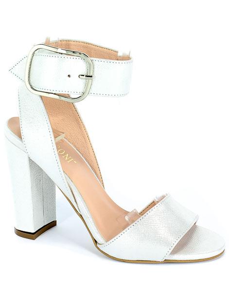 Sandały Visconi 4223257/257 Prada Srebro
