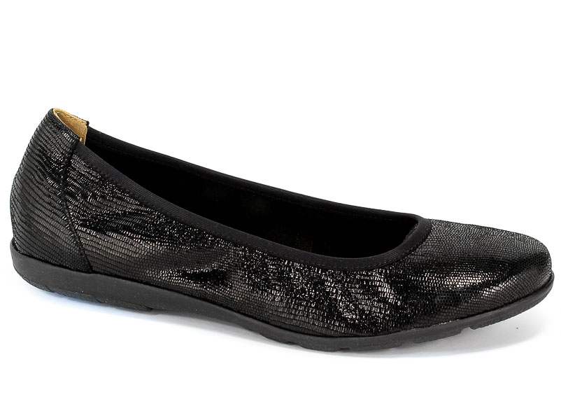 Baleriny Caprice 9-22150-23 010 Black Reptile