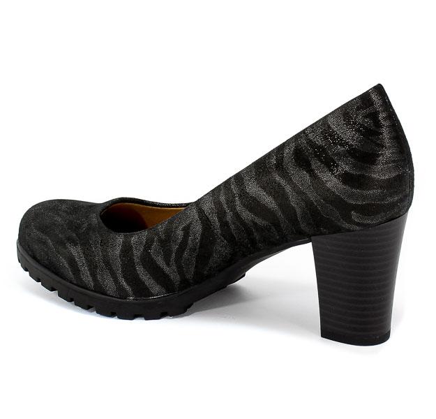 Czółenka Caprice 9-22406-23 093 Black Zebra Czarny