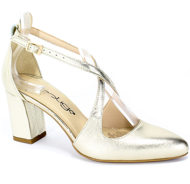 Sandały Prestige 2045/Obl Zł-Lico Złoty Skóra