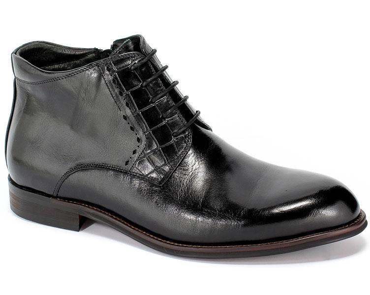 Trzewiki Brooman L9002-26-A13-R Black Czarny Skóra