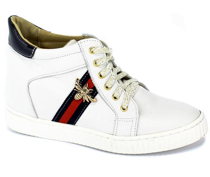 Sneakersy Lewski 2627 Czarnny Groszek Skóra