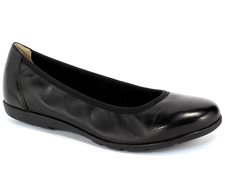 Baleriny Caprice 9-22150-24 022 Black Nappa Czarny Skóra
