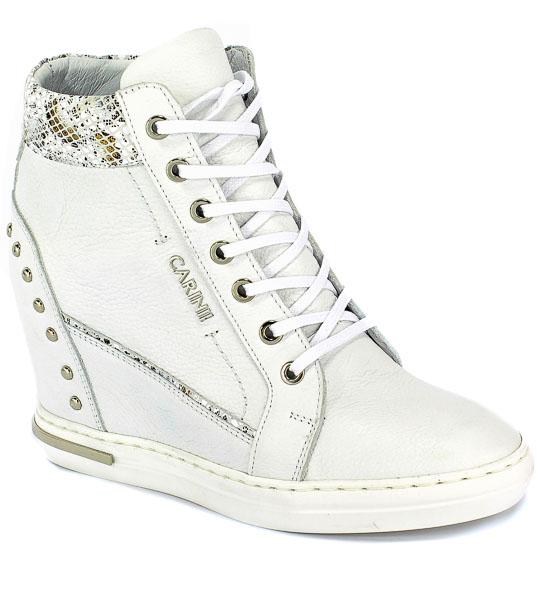 Sneakersy Carinii B5488-I81-O39-000-B88 Biały/Szary Skóra