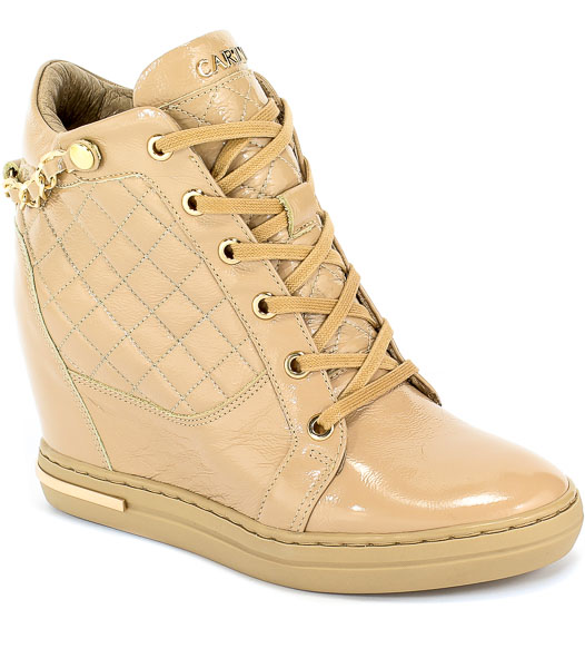Sneakersy Carinii B5385-O31-000-000-B88 Beż Skóra
