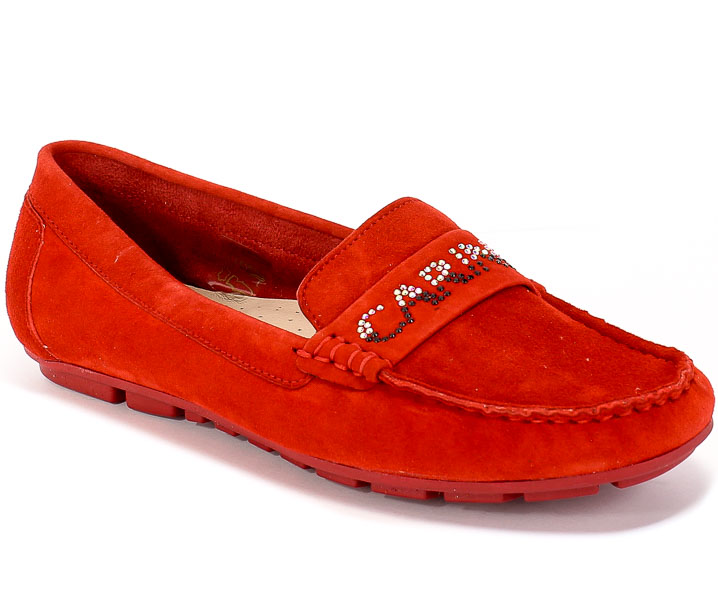 Mokasyny Carinii B5326-M99-000-000-C85 Czerwony Skóra