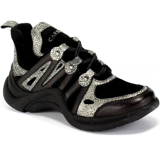 Sneakersy Carinii B6021-353-000-000-000 Czarny Skóra