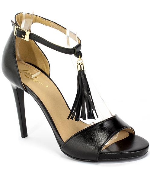 Sandały Kati 2073 B173 Czarny Skóra
