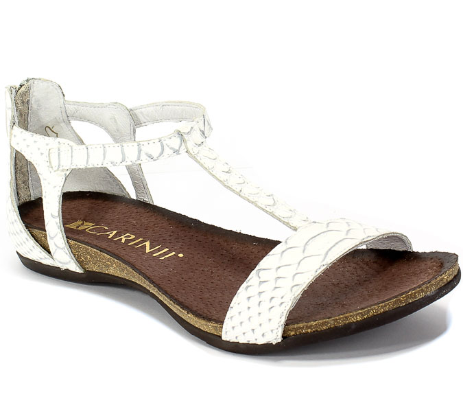 Sandały Carinii B3779/NS-P00-000-000-B02 Biały Skóra