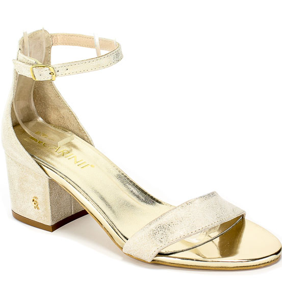 Sandały Carinii B5380-F76-000-000-D76 Złoty Skóra