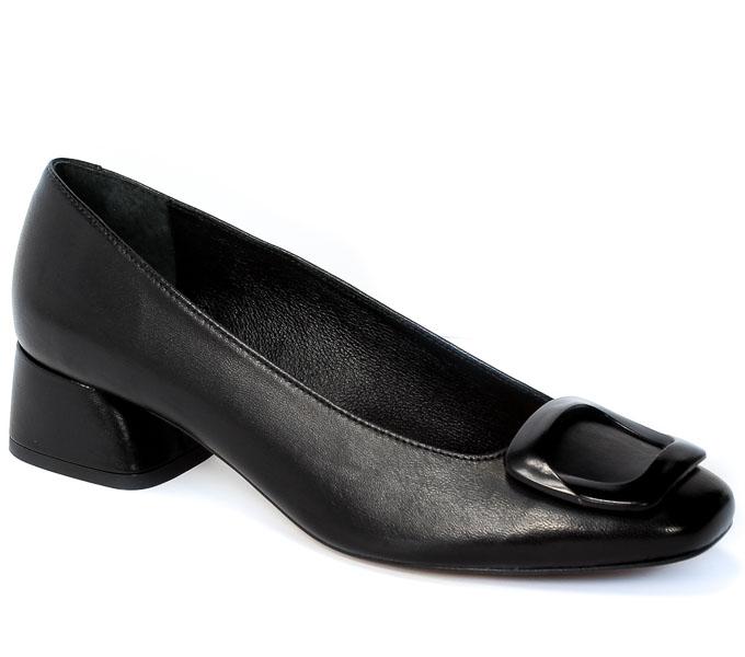 Czółenka Bravo Moda 1953 Czarna skóra